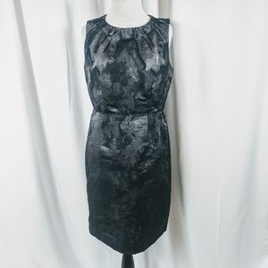 Ann Taylor Loft Sheath Dress Silver and Gray